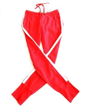 rote stoffhose mit weissen streifen / vintage / 90s / red / stripes