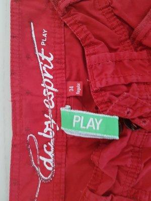 Rote Stoffhose zum hochknöpfen 3/4 Größe 34 2x getragen