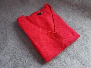 Rote Strickjacke Cardigan Gr. M