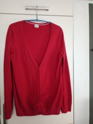 Rote Strickjacke von Esprit Gr.XL