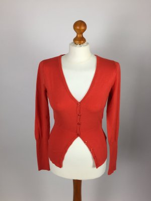 rote Strickjacke von Saint Tropez in Gr. xs