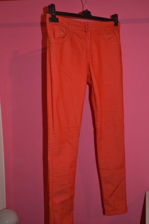 Rote Super Skinny Jeans in rot/orange Gr. 38
