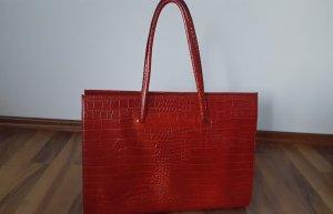 Rote Tasche / echtes Leder