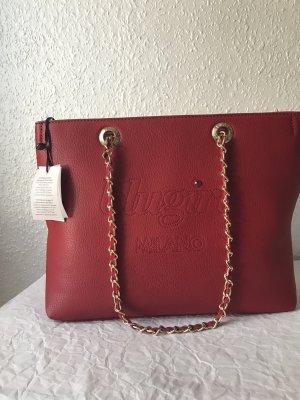 Blugirl Bolso rojo oscuro-color oro Imitación de cuero