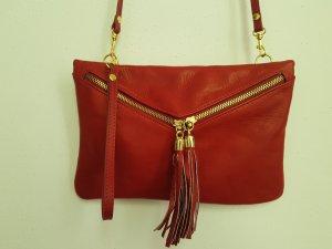 rote Tasche von Borse in Pelle