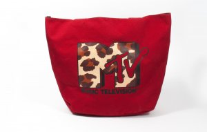 Rote Tasche von MTV aus New York