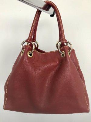 rote Tasche von Pensato aus feinem Kalbsleder
