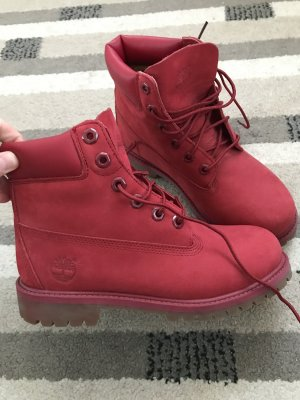 Timberland Stivale Chelsea rosso scuro