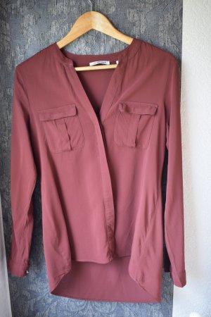 Rote transparente Bluse