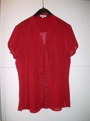 rote transparente Bluse Gr. 42 von Marie Lund Schluppenbluse