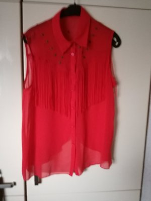rote Transparenz-Bluse