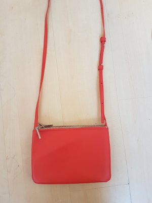Rote Trio Bag Clutch von Mango