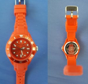 Rote Uhr Madison Kunststoff Ice-Watch-Dupe