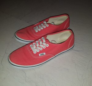 Vans Skater Shoes red linen