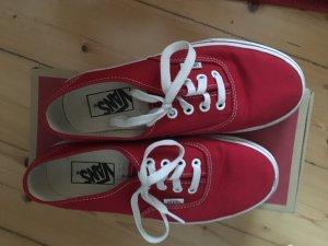 Rote Vans kaum getragen