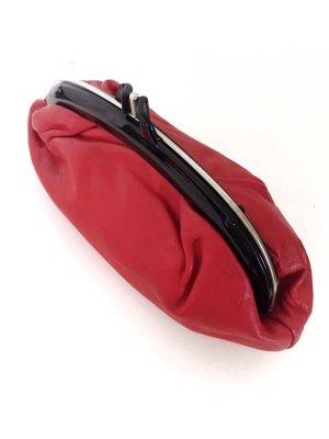 Rote Vintage Clutch Echtleder