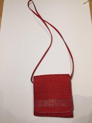 Rote Vintage FENDI Monogramm Handtasche Crossover