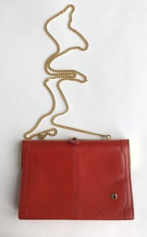 Rote Vintage Umhängetasche aus den 70ern