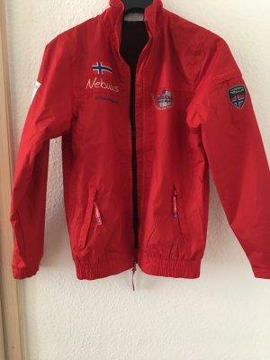 Rote Wasserabweisende Jacke