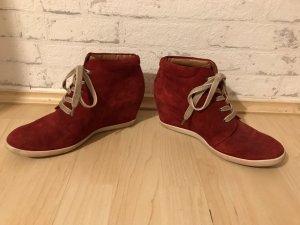 Paul Green Wedge Sneaker dark red