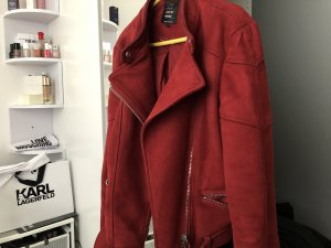 Zara Biker Jacket bordeaux-dark red