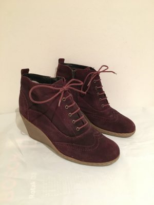 Rote Wildleder Booties Ankle Boots Gr.41