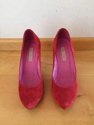 Rote Wildleder High heels von Buffalo