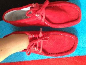 Rote Wildleder Schuhe von BRONX