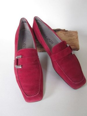 rote Wildleder Schuhe von Peter Kaiser, Grösse 39