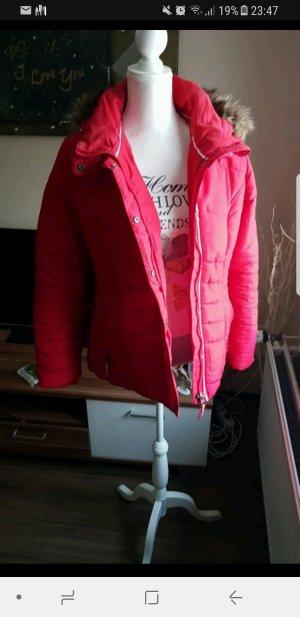 rote Winter Jacke neu