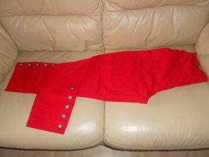 rote Wollhose im Reiterhosenstil Gr. 34
