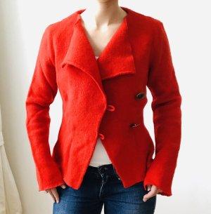 Veste en laine rouge laine