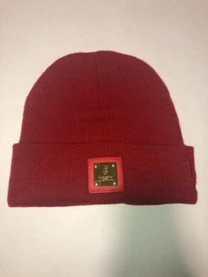 Knitted Hat gold-colored-red