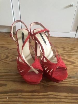 Zara High Heel Sandal red