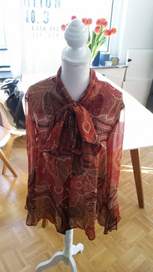 Rote Zara Schluppen-Bluse im Boho Stil