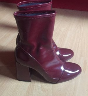 Rote Zara Stiefel Lack Gr.37 - Top Zustand