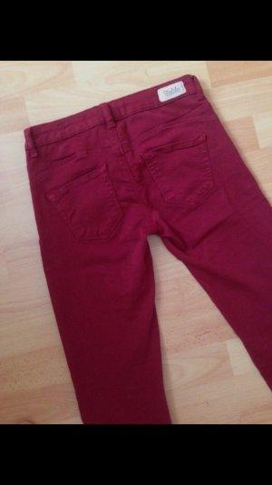 Rote Zara Trf Skinny Jeans