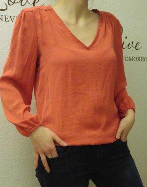 rote zeitlose Bluse von Zara