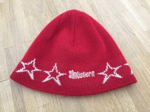 Rote Zimtstern Mütze