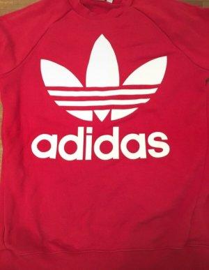 Adidas Oversized trui rood-wolwit