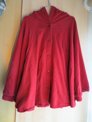 roter American Apparel Poncho/Cape mit Kuschelfutter