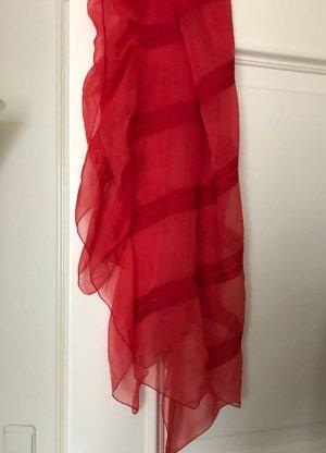 Armani Zijden sjaal baksteenrood-rood Zijde