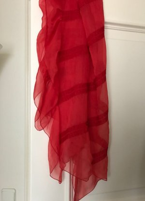 Armani Silk Scarf brick red-red silk