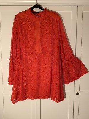 asos curve Blusa in merletto rosso-rosso scuro