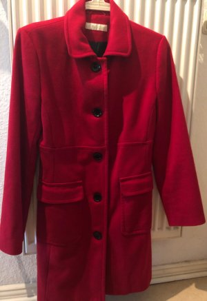 Aygill's Wool Coat dark red wool