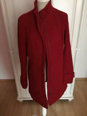 roter Biker-Mantel mit Taschen