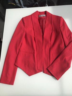 Roter Blazer mit Schalkragen