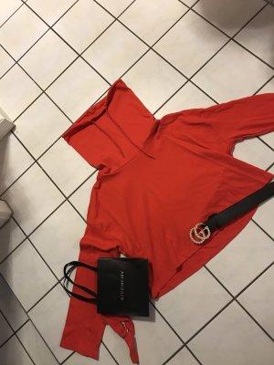 Roter Blogger Pullover neu