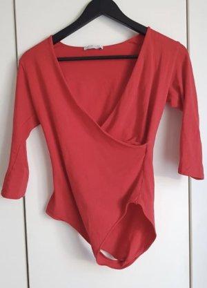 Zara Trafaluc Haut long rouge-rouge brique