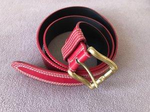 roter Bogner Ledergürtel mit Messingachließe